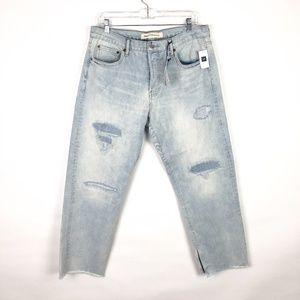 NWT GAP Vintage Straight Jeans Raw Hem Button Fly